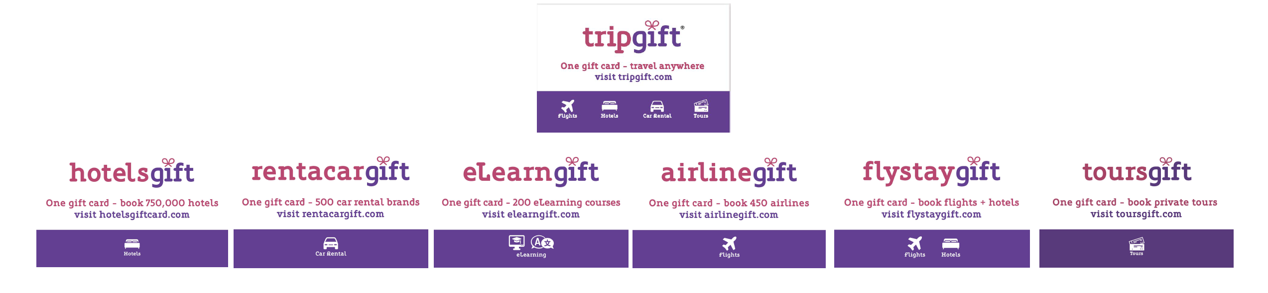 TripGift brands portfolio